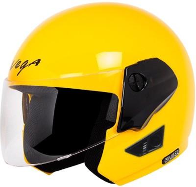VEGA Cruiser Motorbike Helmet(Yellow, Black)