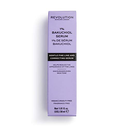 Revolution Skin 1% Bakuchiol Serum,30ml (sensitive skin, reduces appearance of fine lines, alternative to retinol)
